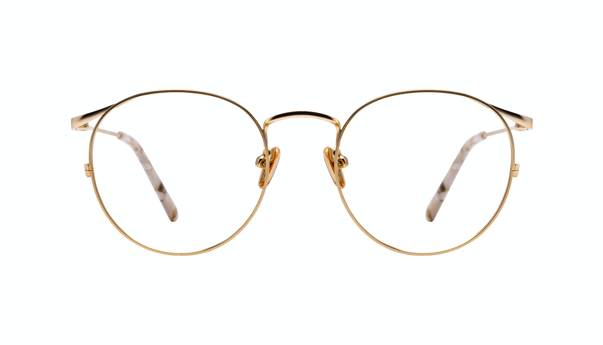 Affordable Fashion Glasses Round Eyeglasses Women Curve Gold Front