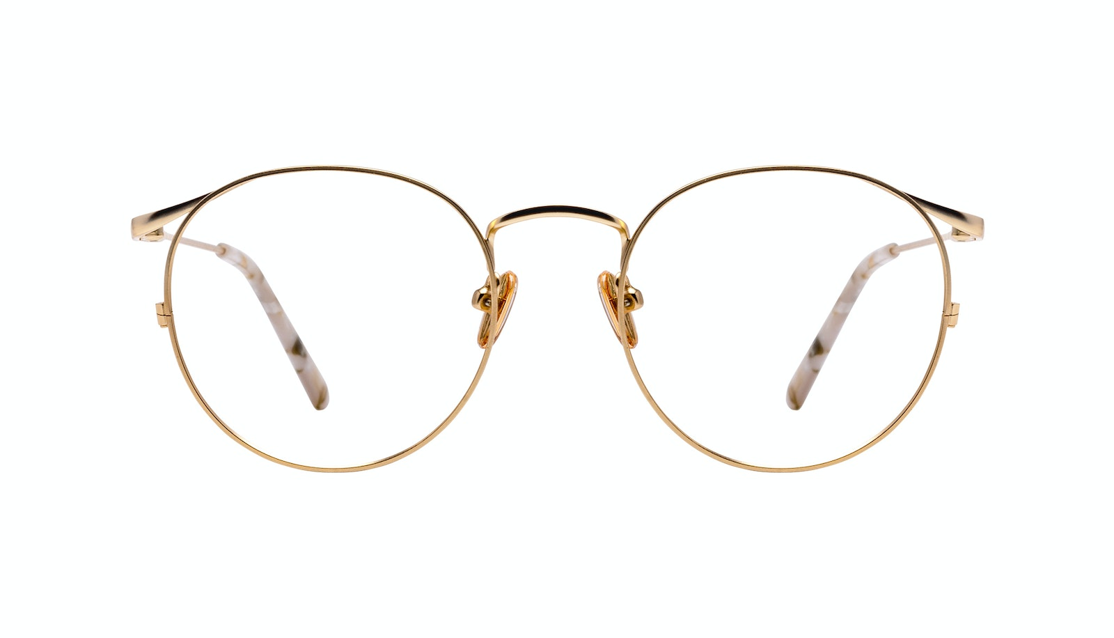 Affordable Fashion Glasses Round Eyeglasses Women Curve Gold