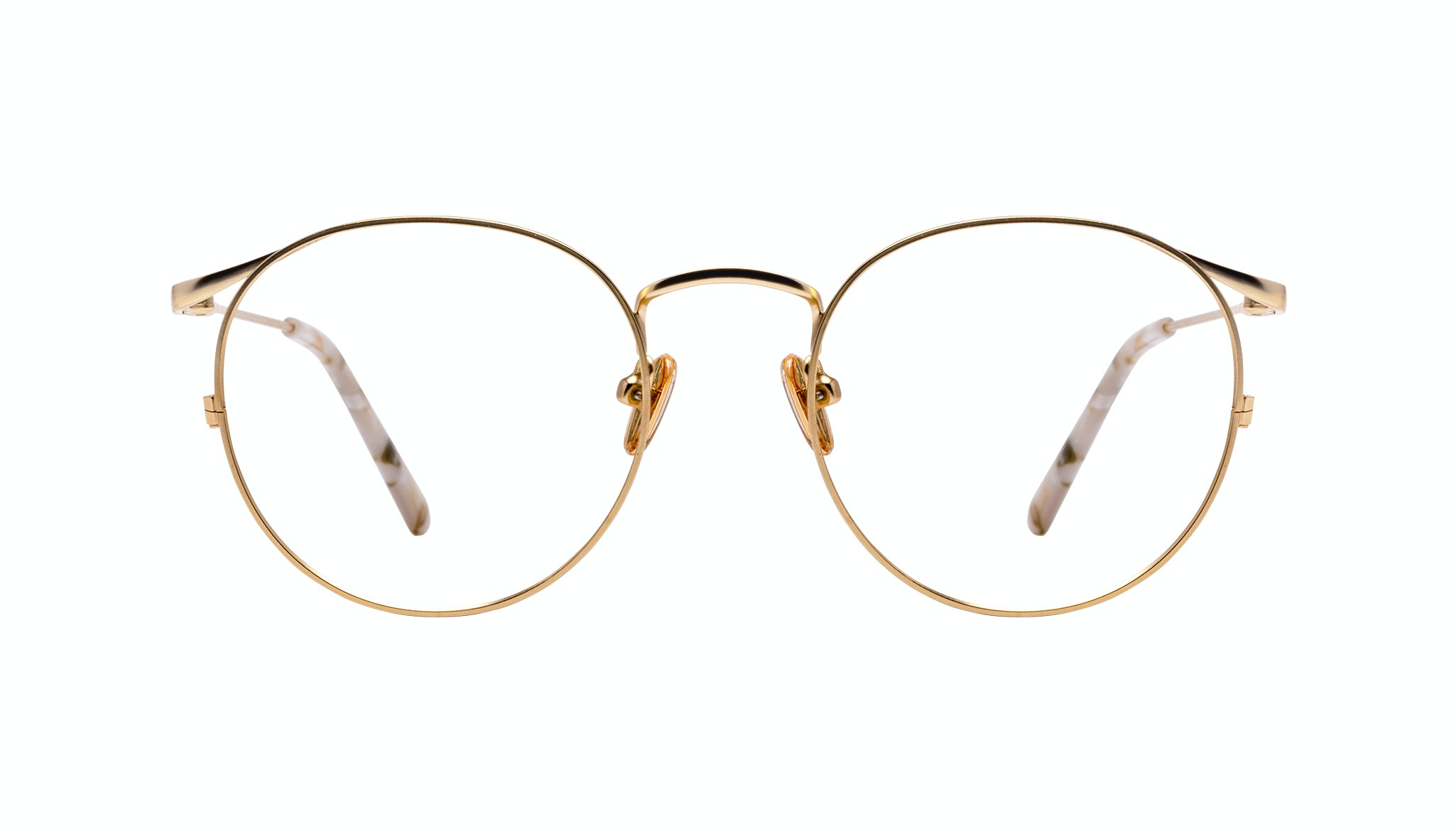 Affordable Fashion Glasses Round Eyeglasses Women Curve Gold