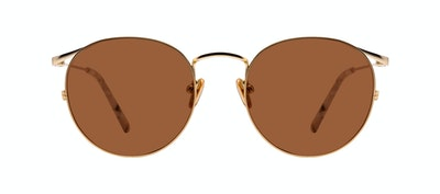 Affordable Fashion Glasses Round Sunglasses Women Curve Gold Front
