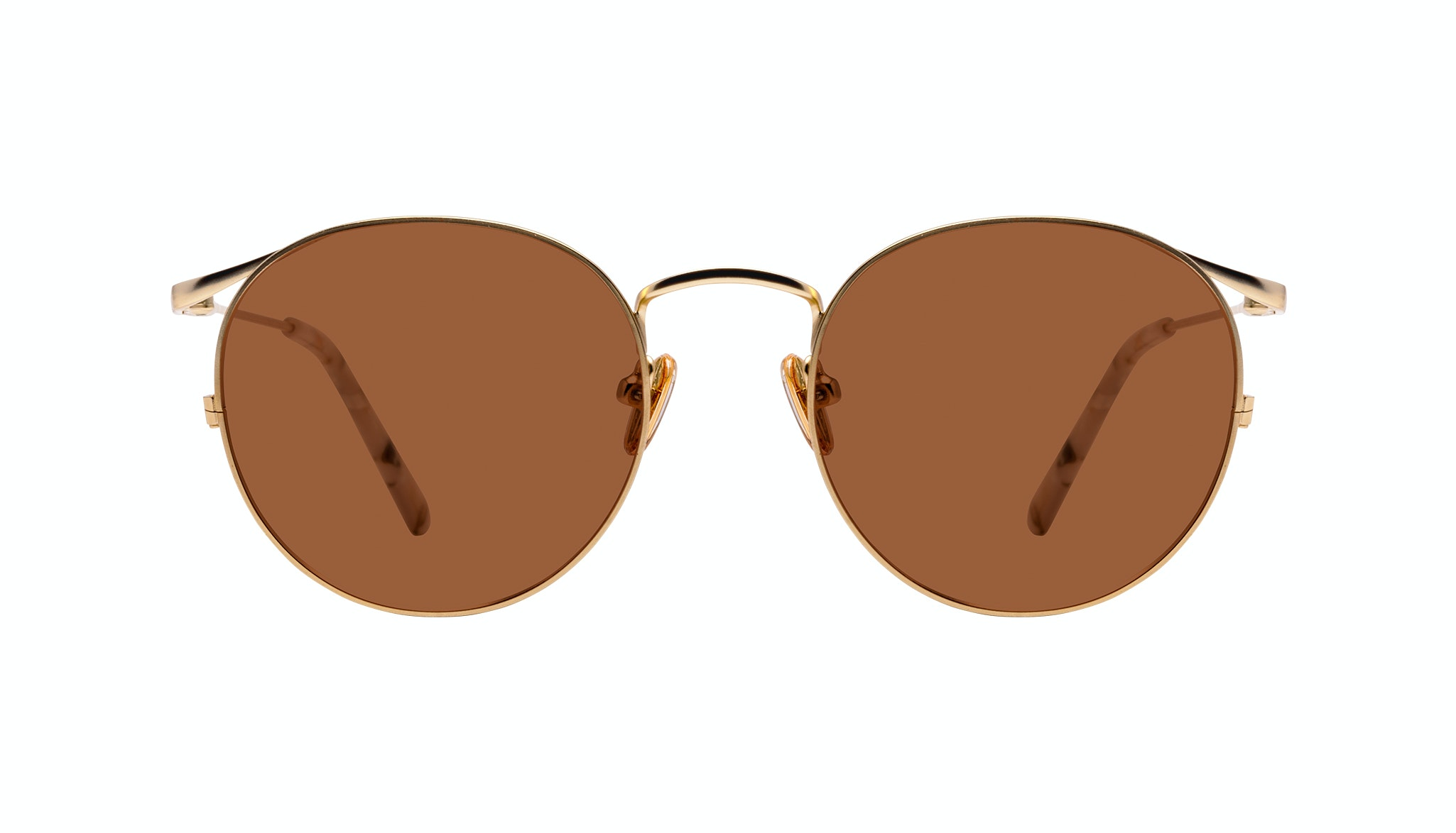 Affordable Fashion Glasses Round Sunglasses Women Curve Gold