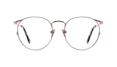 Affordable Fashion Glasses Round Eyeglasses Women Curve Blush Front
