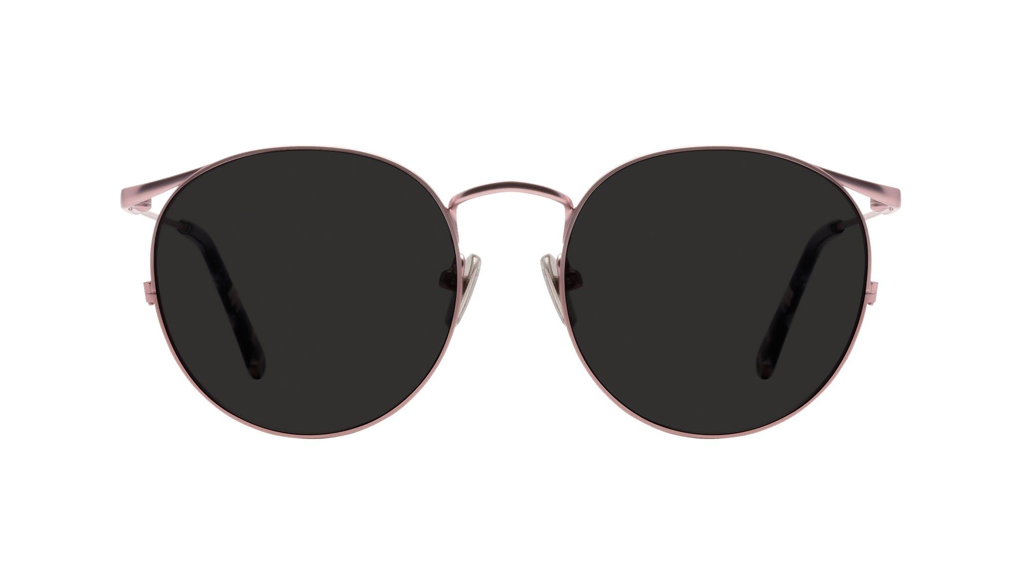 Affordable Fashion Glasses Round Sunglasses Women Curve Blush