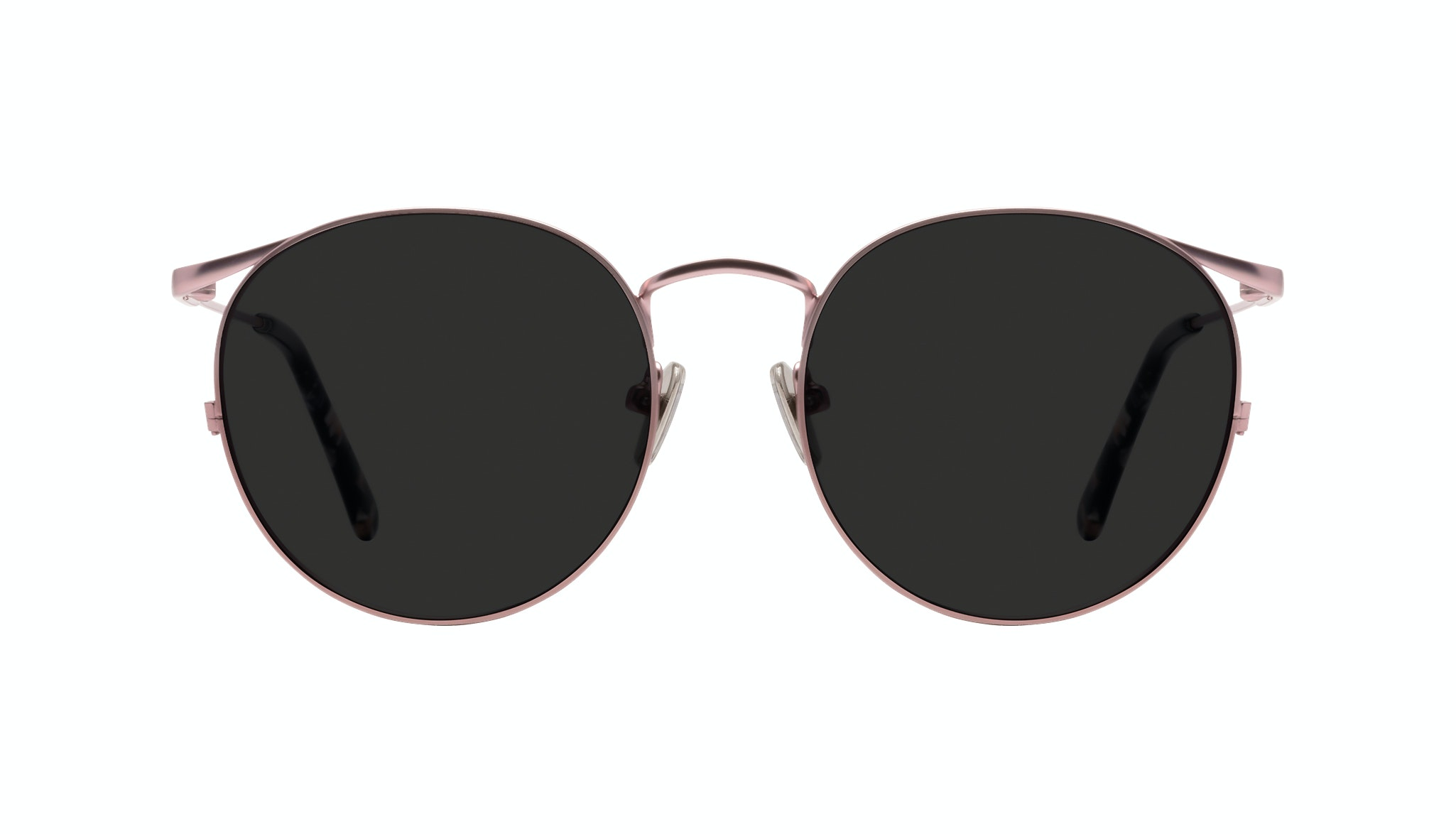 Affordable Fashion Glasses Round Sunglasses Women Curve Blush Front