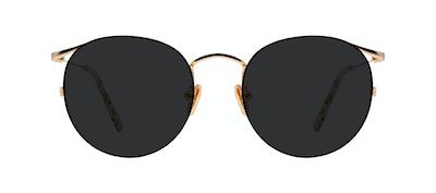 Affordable Fashion Glasses Round Sunglasses Women Curve Deep Gold Front