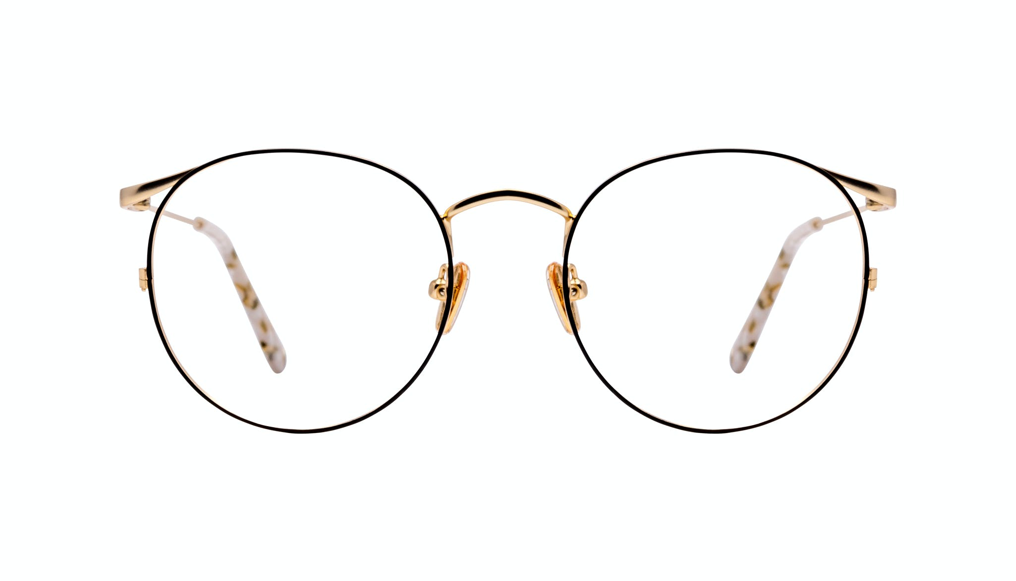 Affordable Fashion Glasses Round Eyeglasses Women Curve Deep Gold
