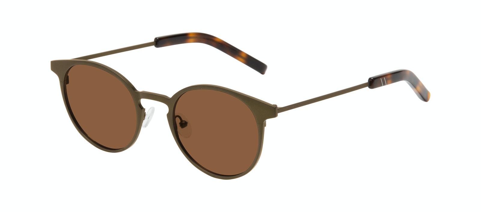Affordable Fashion Glasses Round Sunglasses Men Cut Khaki Tilt