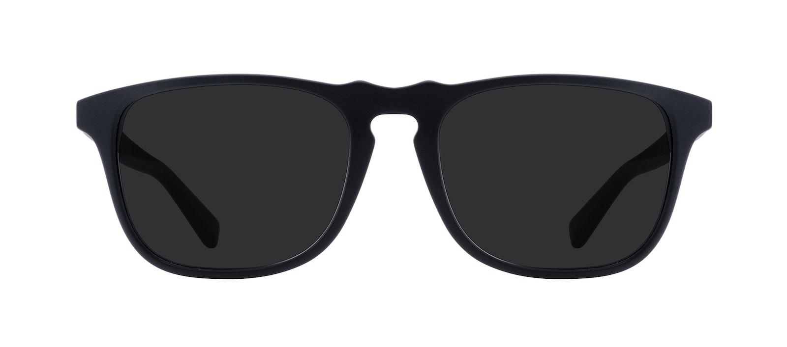 Affordable Fashion Glasses Rectangle Sunglasses Men Dare Matte Black Front