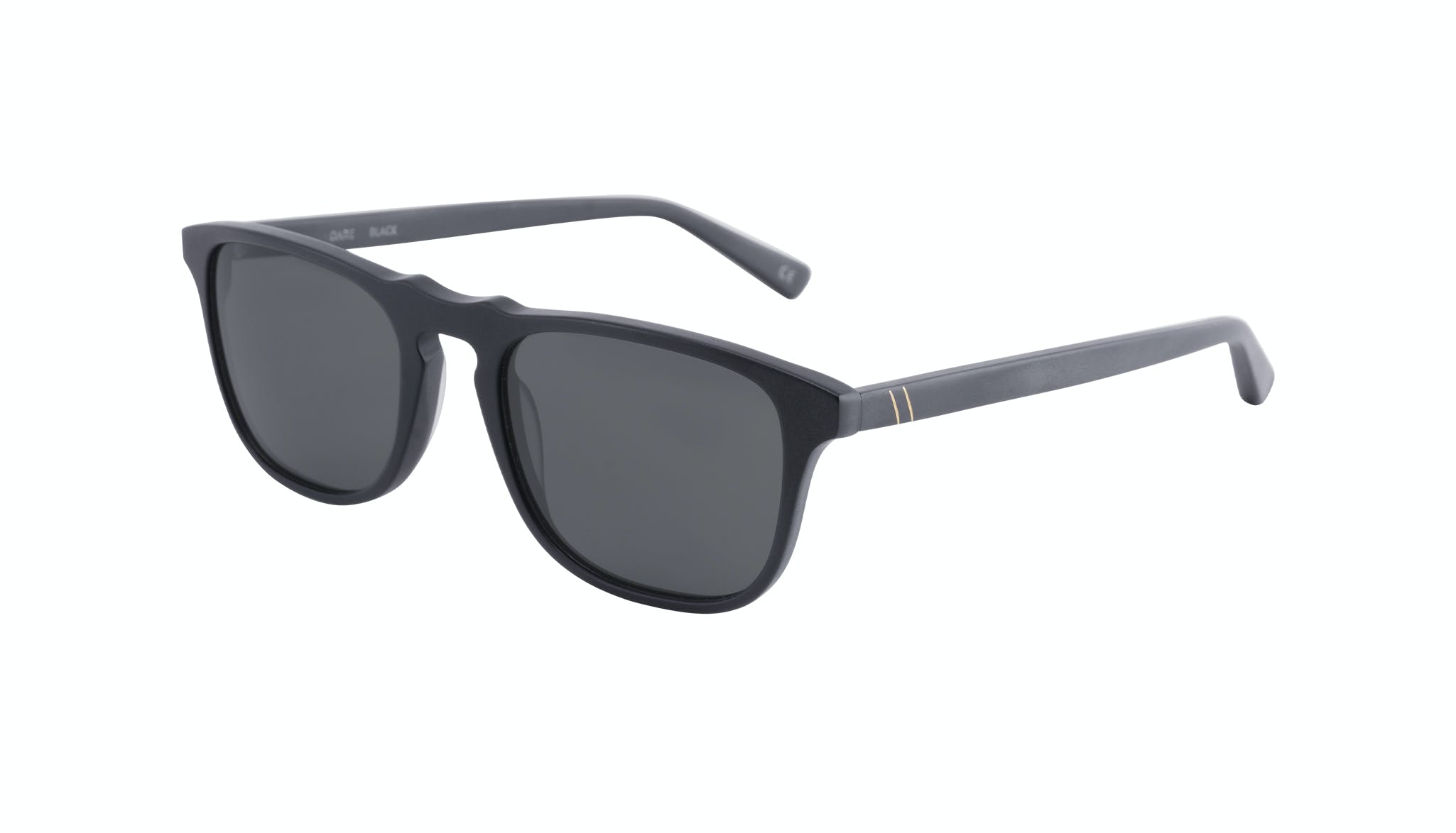 Affordable Fashion Glasses Rectangle Sunglasses Men Dare Matte Black Tilt