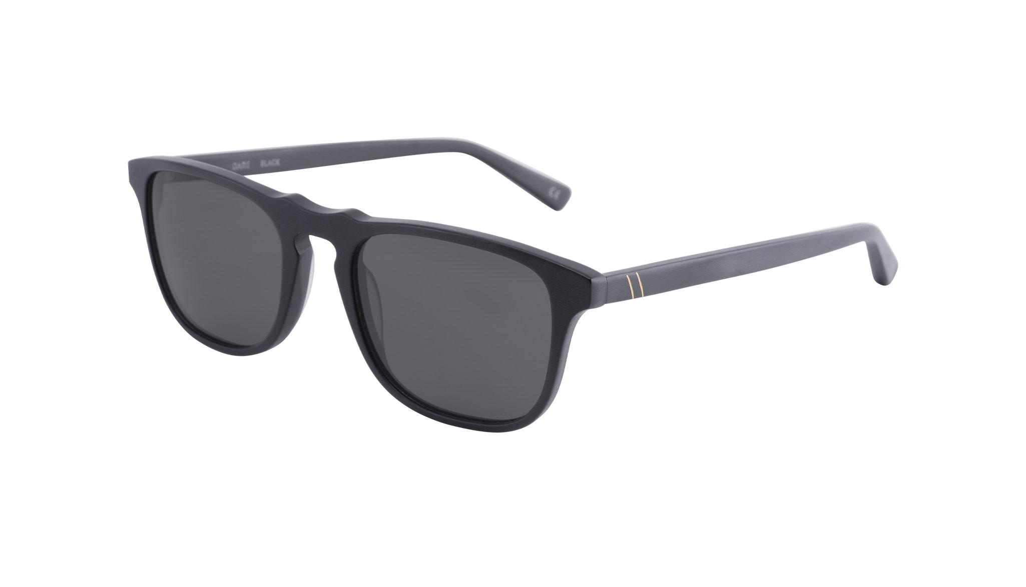 Affordable Fashion Glasses Rectangle Sunglasses Men Dare Matte Black Tilt