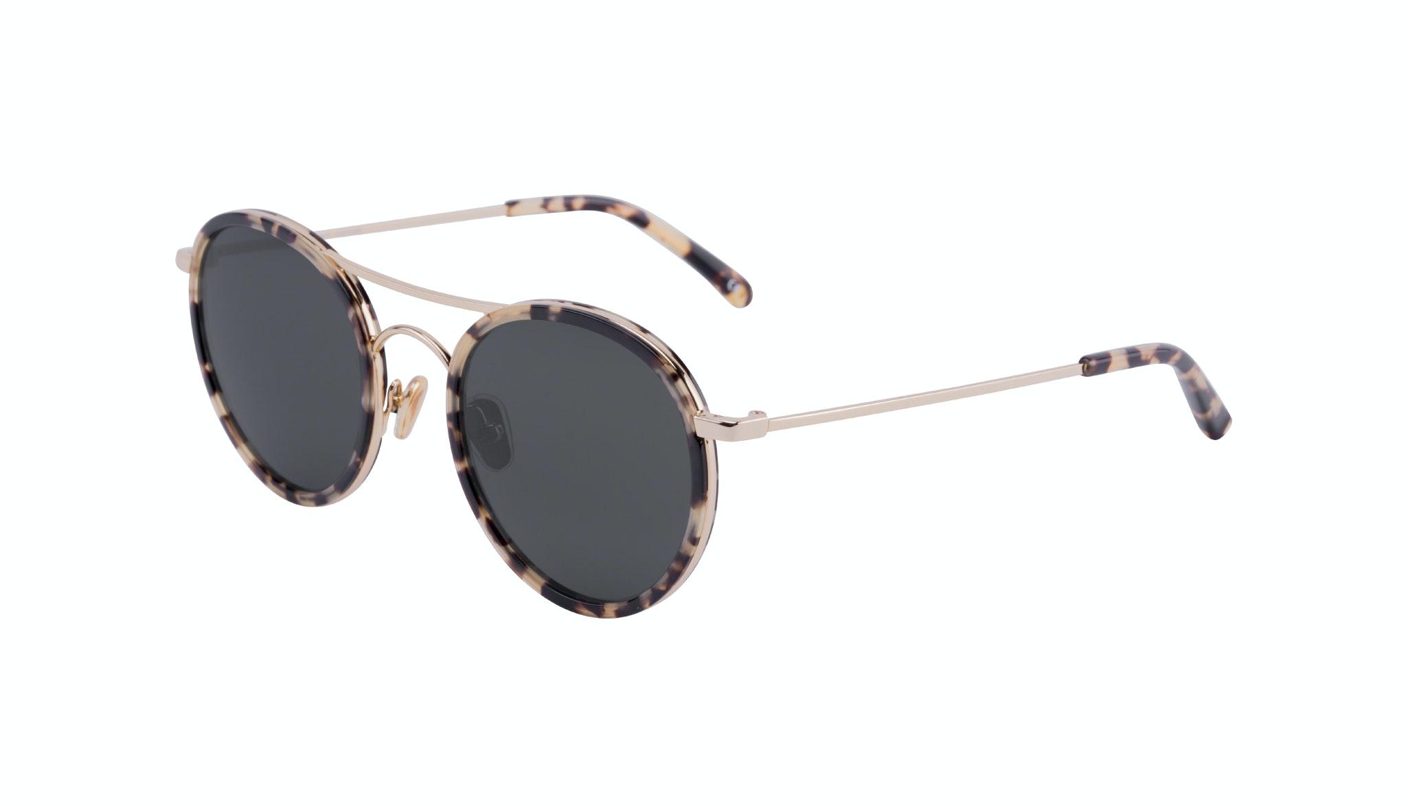 Affordable Fashion Glasses Aviator Round Sunglasses Women Dawn Tortoise Tilt