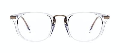 Affordable Fashion Glasses Rectangle Square Eyeglasses Men Daze Gold Diamond Front
