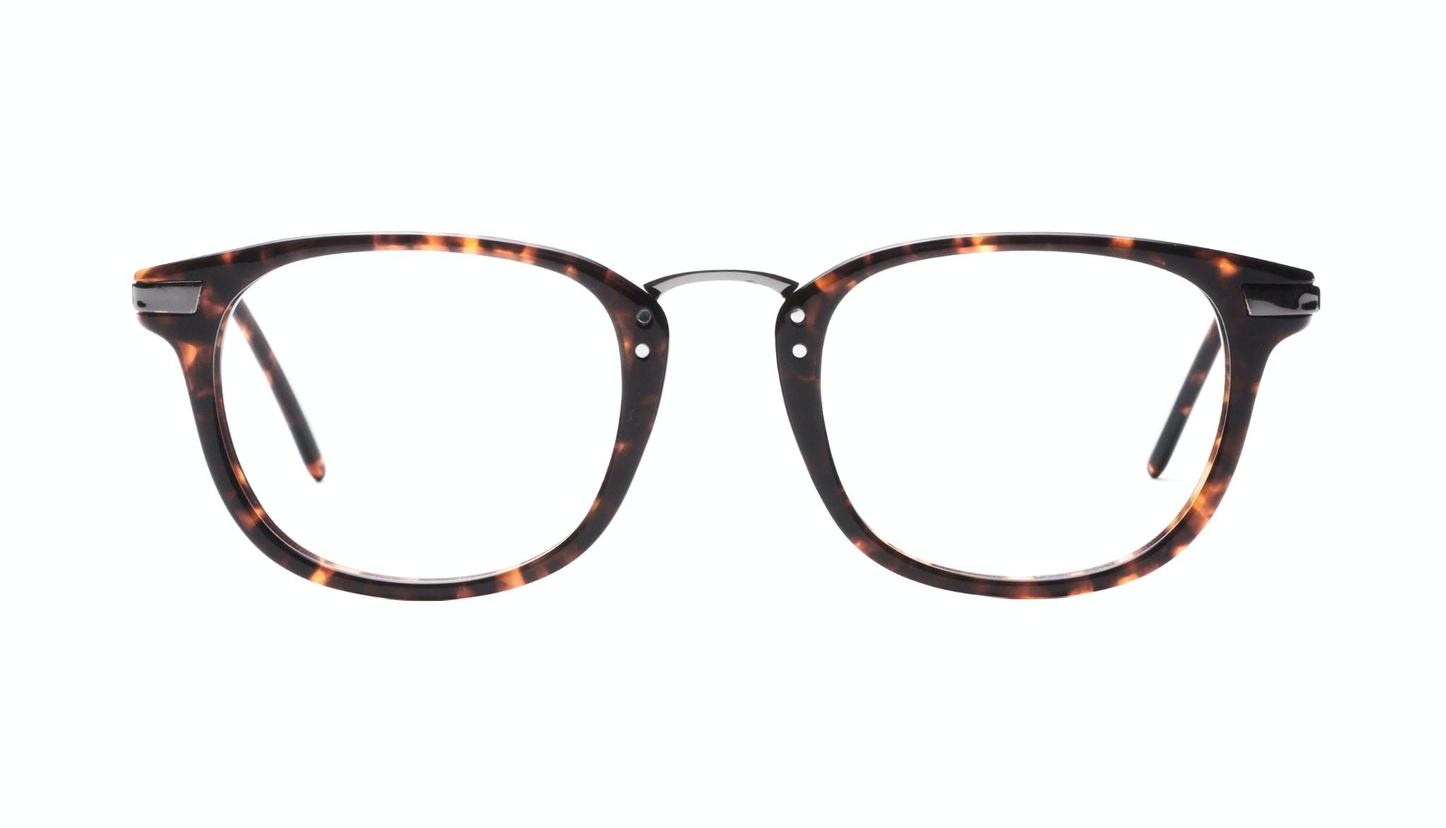 Affordable Fashion Glasses Rectangle Square Eyeglasses Men Daze Sepia Front