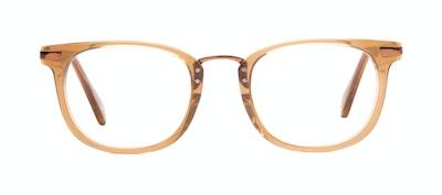 Affordable Fashion Glasses Rectangle Square Eyeglasses Men Daze Tan Front