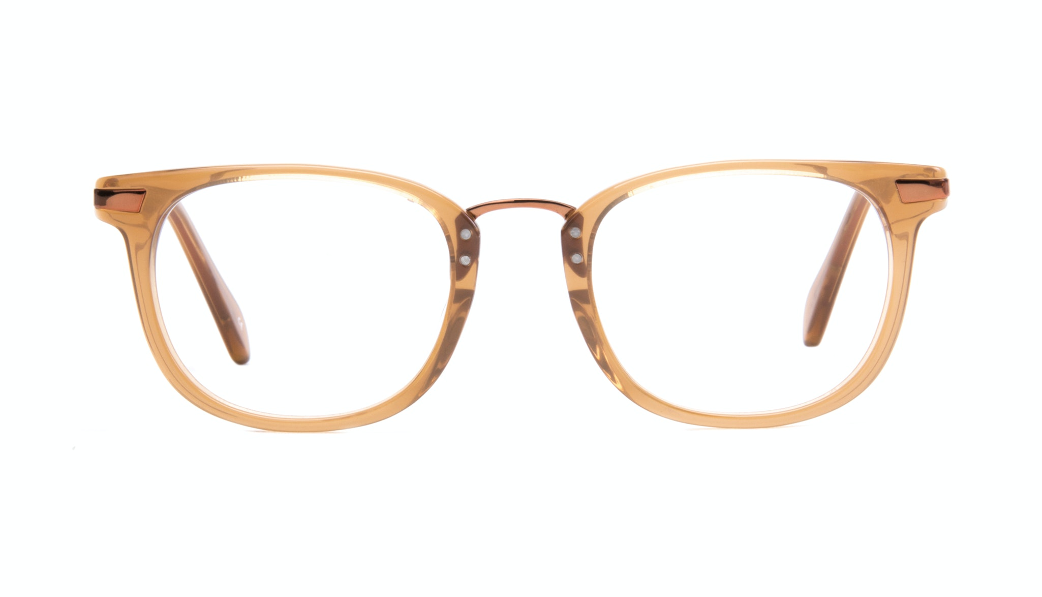 Affordable Fashion Glasses Rectangle Eyeglasses Men Women Daze Tan