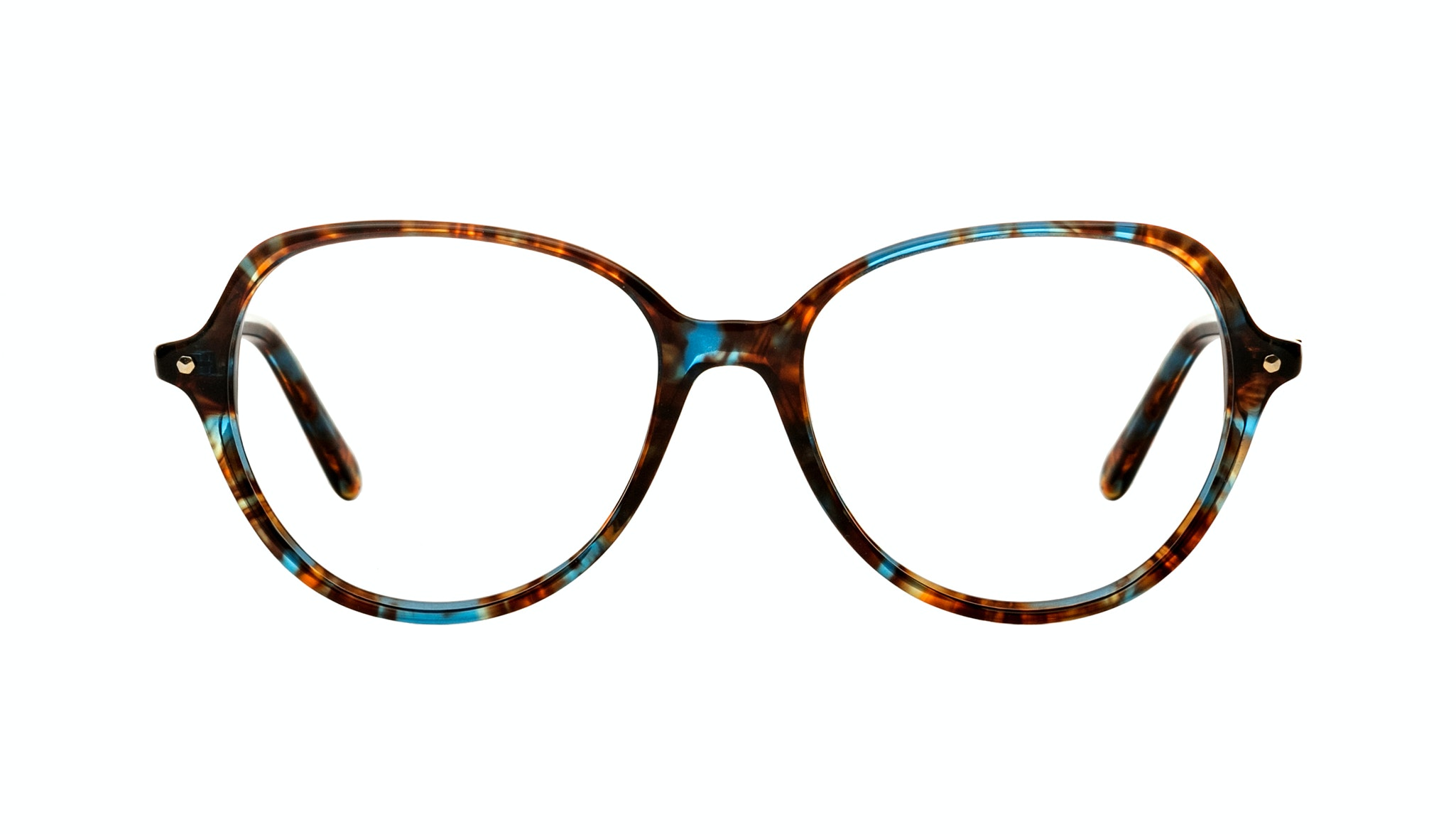 Affordable Fashion Glasses Aviator Round Eyeglasses Women Dazzle Blue Storm