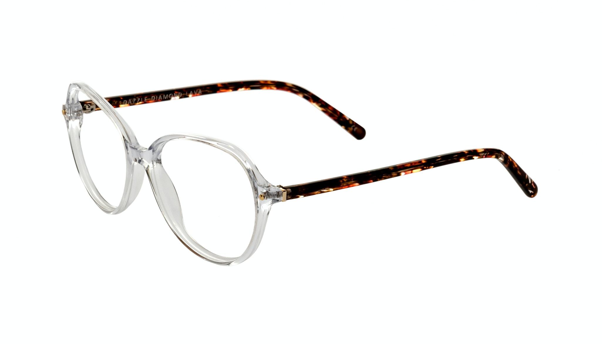 Affordable Fashion Glasses Round Eyeglasses Women Dazzle Diamond Lava Tilt