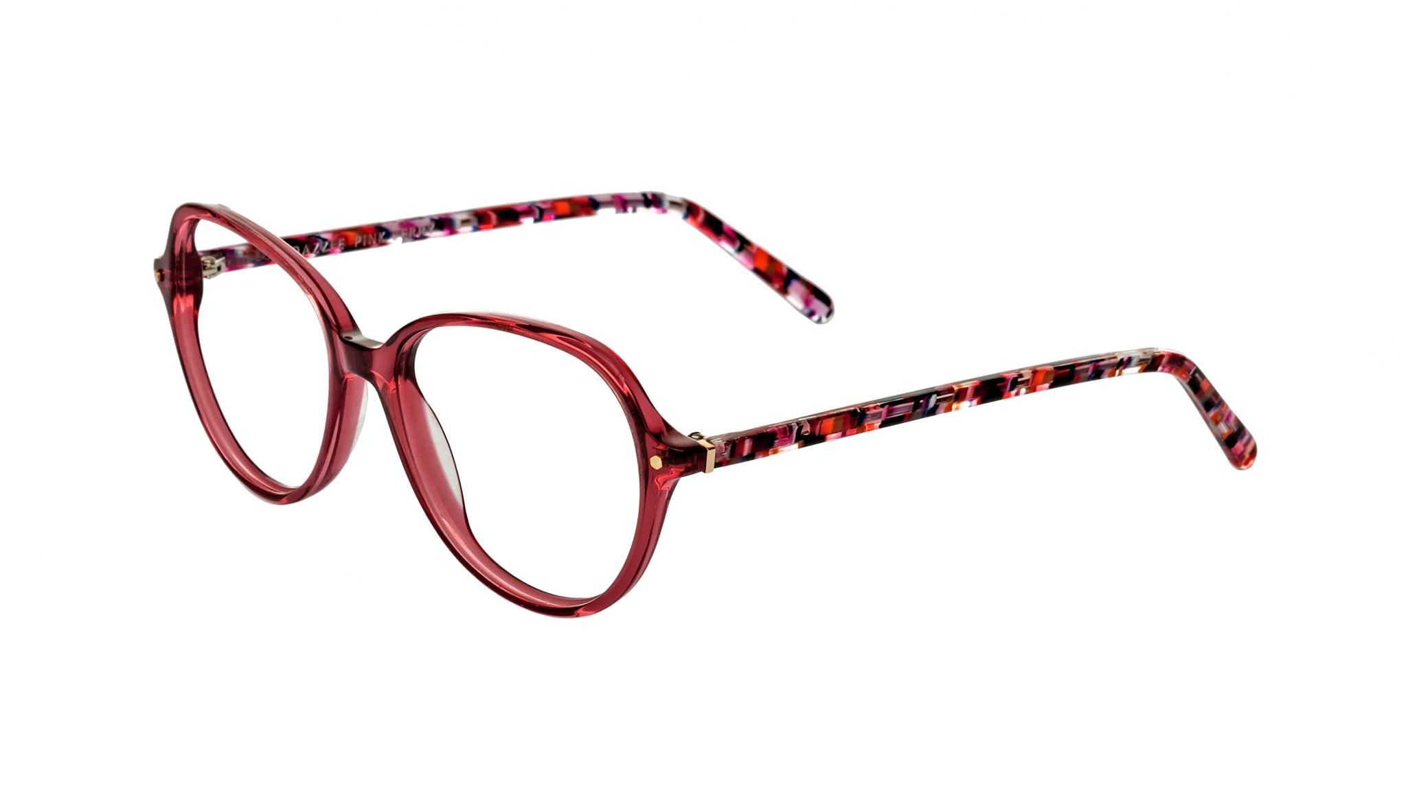 Affordable Fashion Glasses Round Eyeglasses Women Dazzle pink-berry Tilt