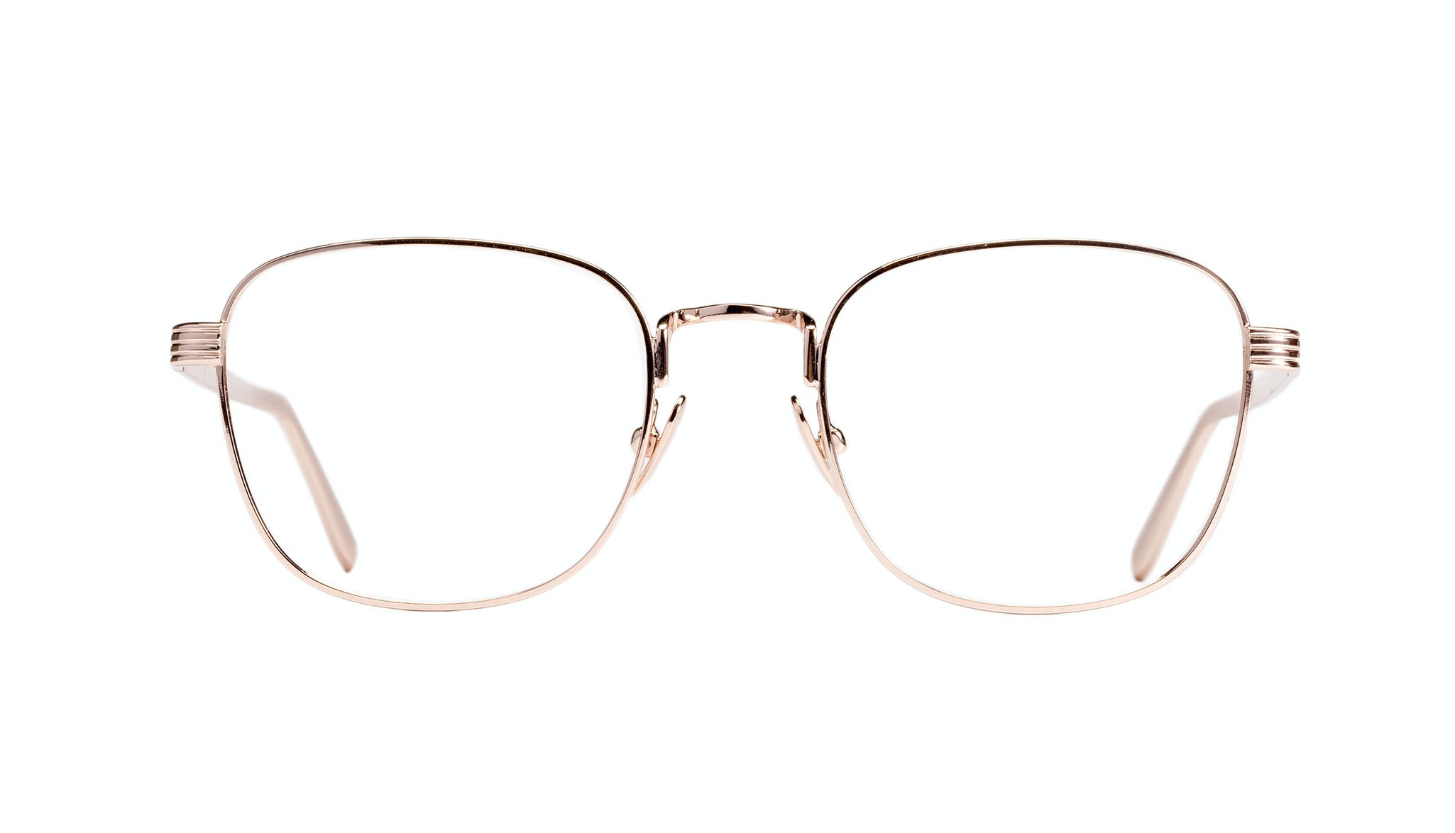 Affordable Fashion Glasses Rectangle Eyeglasses Women Delight Gold Front