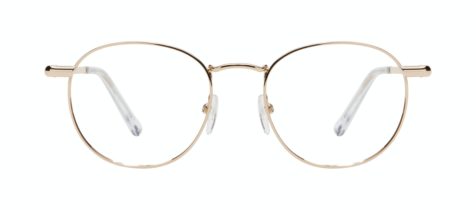 Affordable Fashion Glasses Round Eyeglasses Men Women Divine L Gold Front