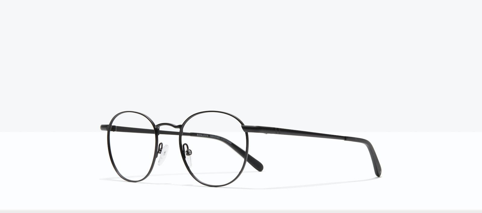 Affordable Fashion Glasses Round Eyeglasses Men Women Divine Matte Black Tilt
