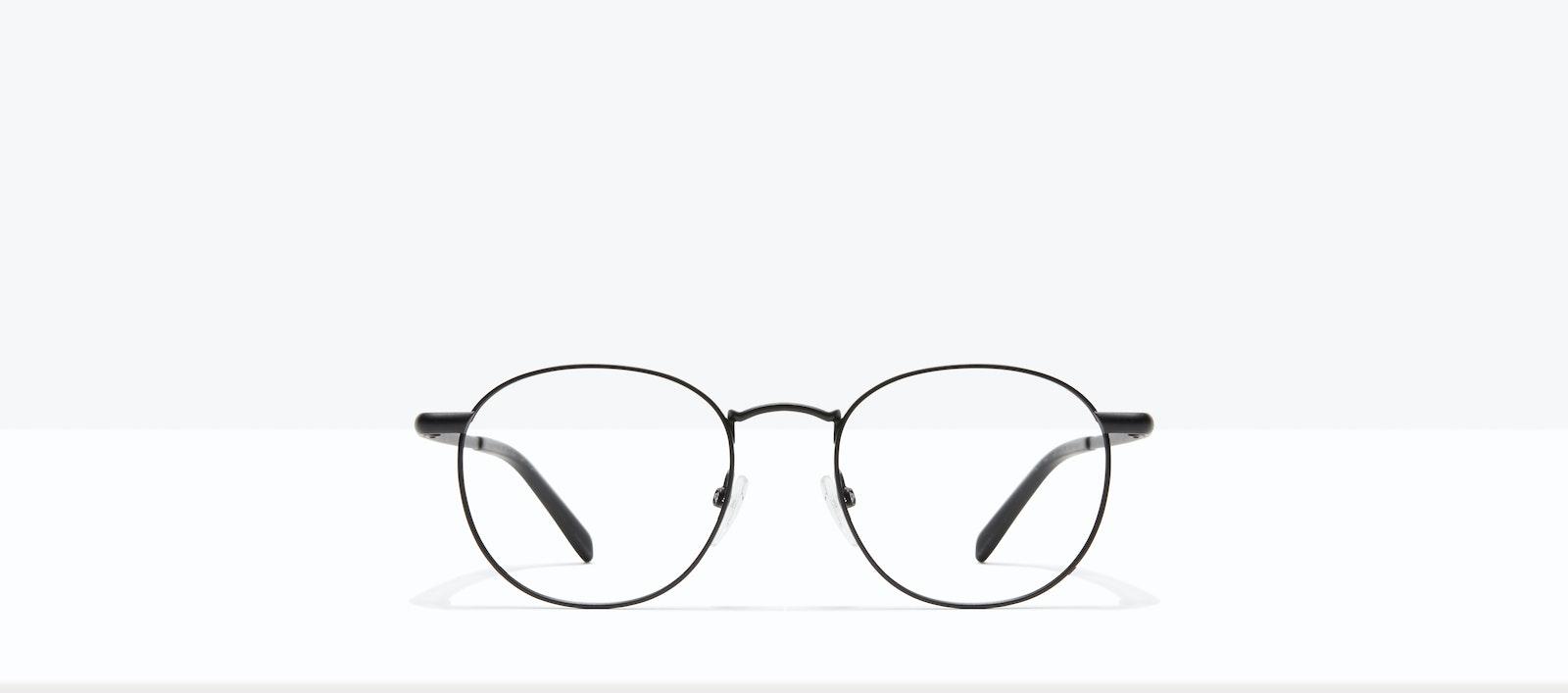 Affordable Fashion Glasses Round Eyeglasses Men Women Divine Matte Black Front