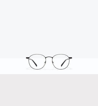 Affordable Fashion Glasses Round Eyeglasses Men Women Divine Matte Black Front