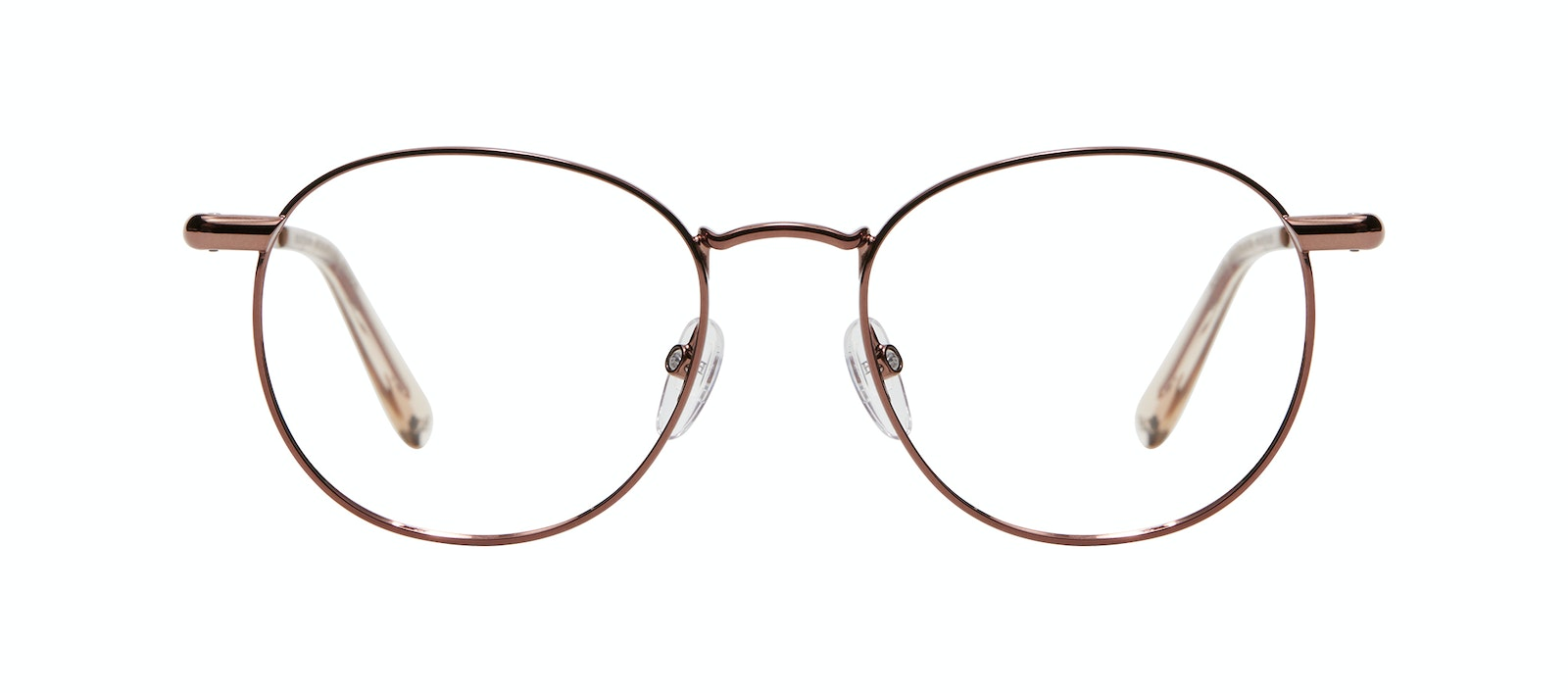Affordable Fashion Glasses Round Eyeglasses Men Women Divine M Copper Front