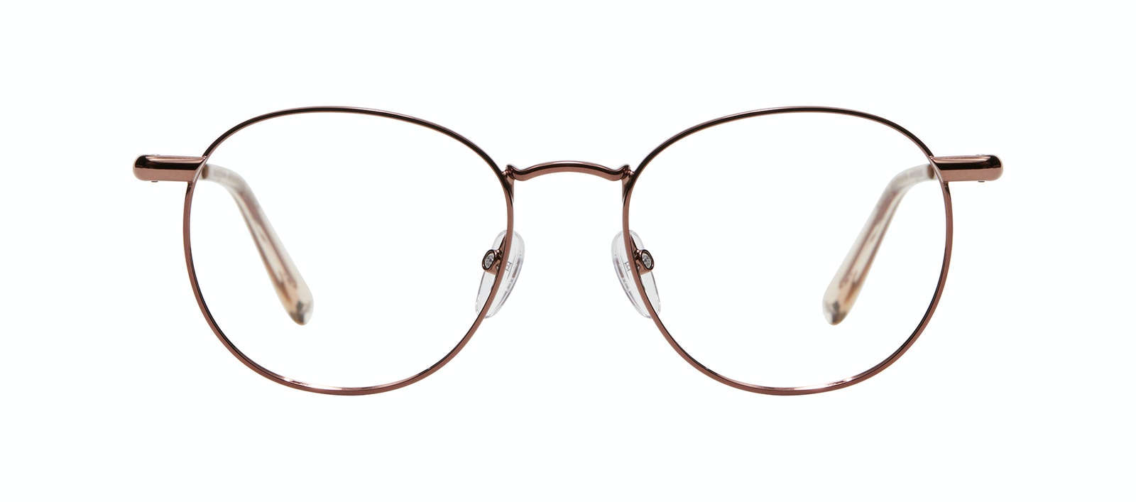 Affordable Fashion Glasses Round Sunglasses Women Divine M Copper Front