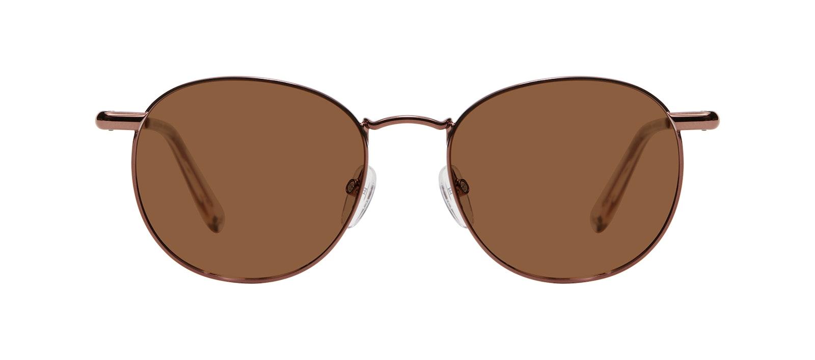 Affordable Fashion Glasses Round Sunglasses Men Women Divine M Copper Front