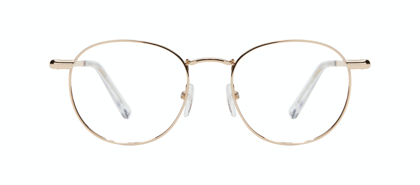 Affordable Fashion Glasses Round Eyeglasses Women Divine M Gold Front