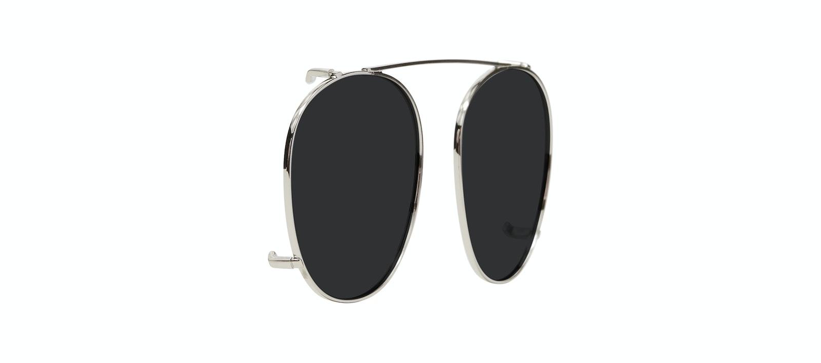 Affordable Fashion Glasses Accessory Men Women Divine Clip M Silver Tilt