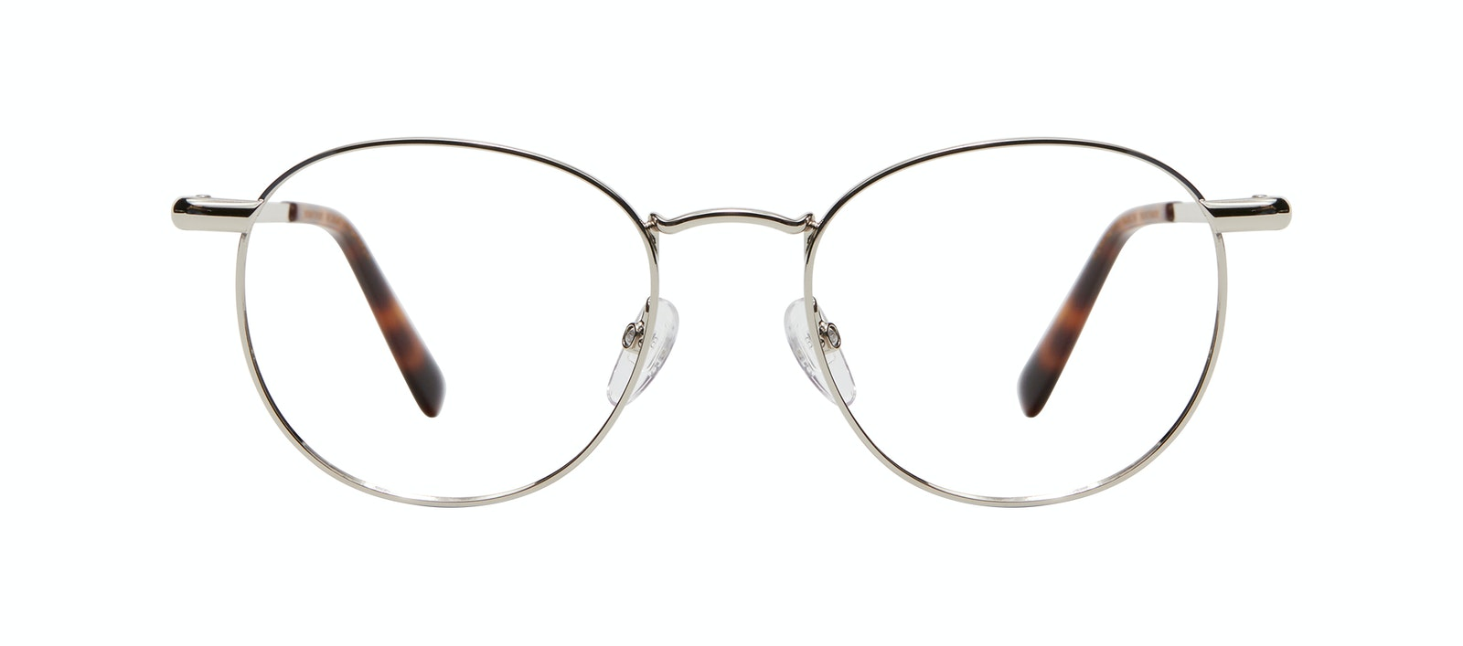Affordable Fashion Glasses Round Eyeglasses Men Women Divine M Silver Front