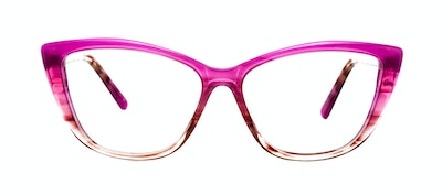Affordable Fashion Glasses Cat Eye Daring Cateye Eyeglasses Women Dolled Up Cosmo Pink Front