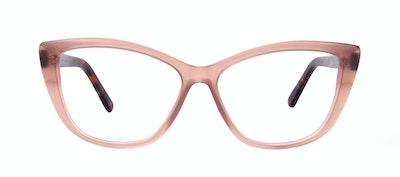 Affordable Fashion Glasses Cat Eye Daring Cateye Eyeglasses Women Dolled Up Rose Tortoise Matte Front