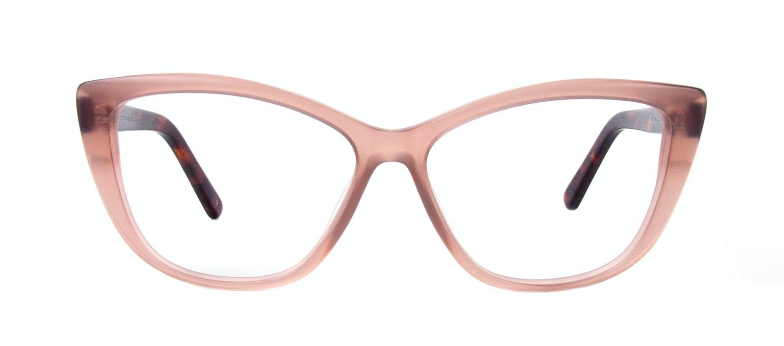 31d6e0314671 ... Affordable Fashion Glasses Cat Eye Daring Cateye Eyeglasses Women  Dolled Up Rose Tortoise Matte Front ...