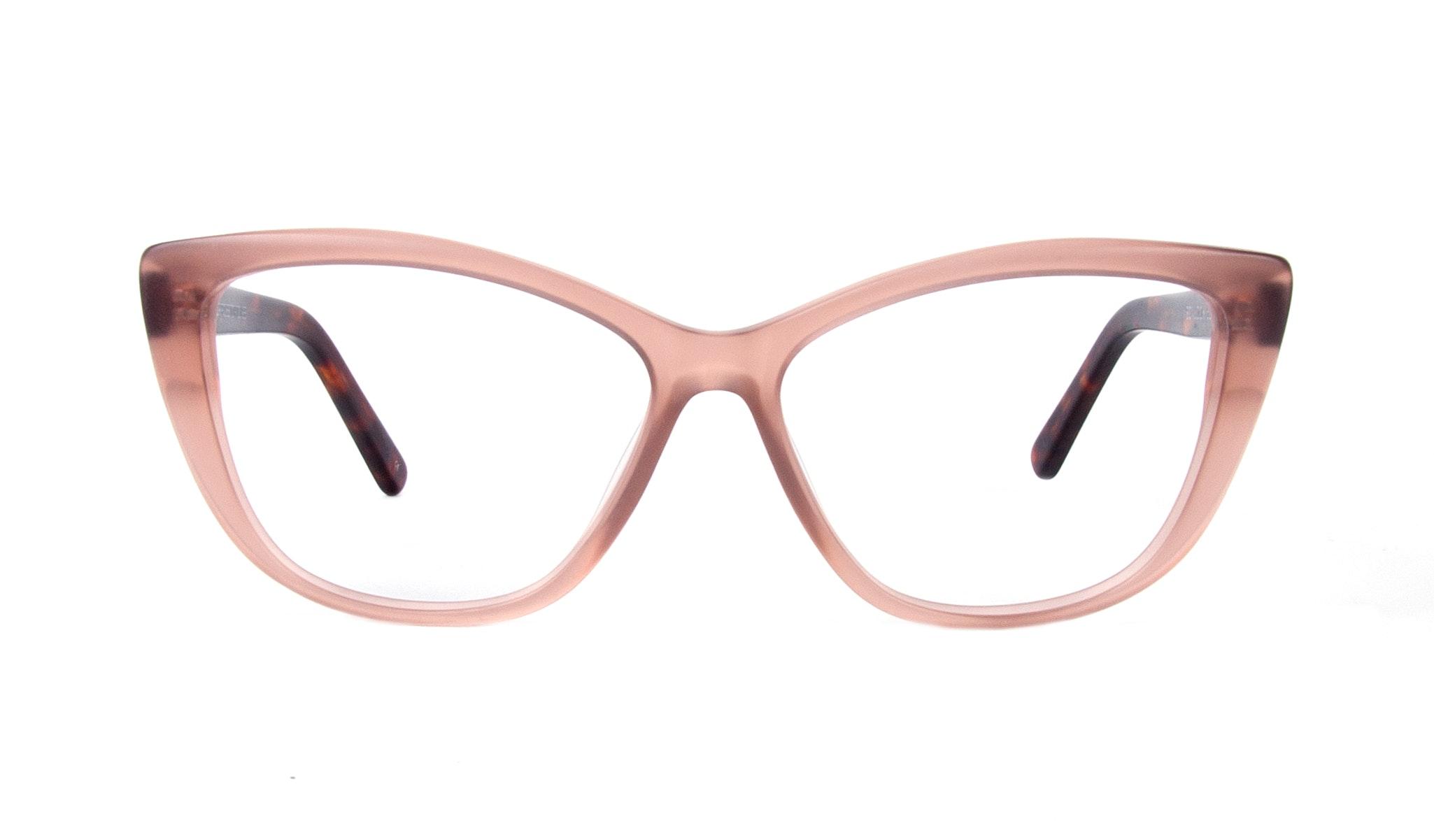 Affordable Fashion Glasses Cat Eye Eyeglasses Women Dolled Up Rose Tortoise Matte Front