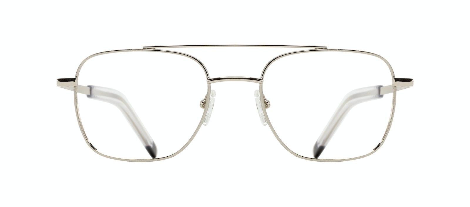 Affordable Fashion Glasses Aviator Eyeglasses Men Drift Silver Front