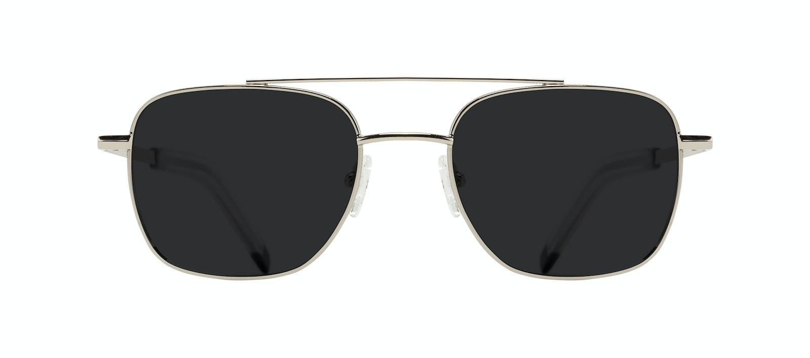 Affordable Fashion Glasses Aviator Sunglasses Men Drift Silver Front