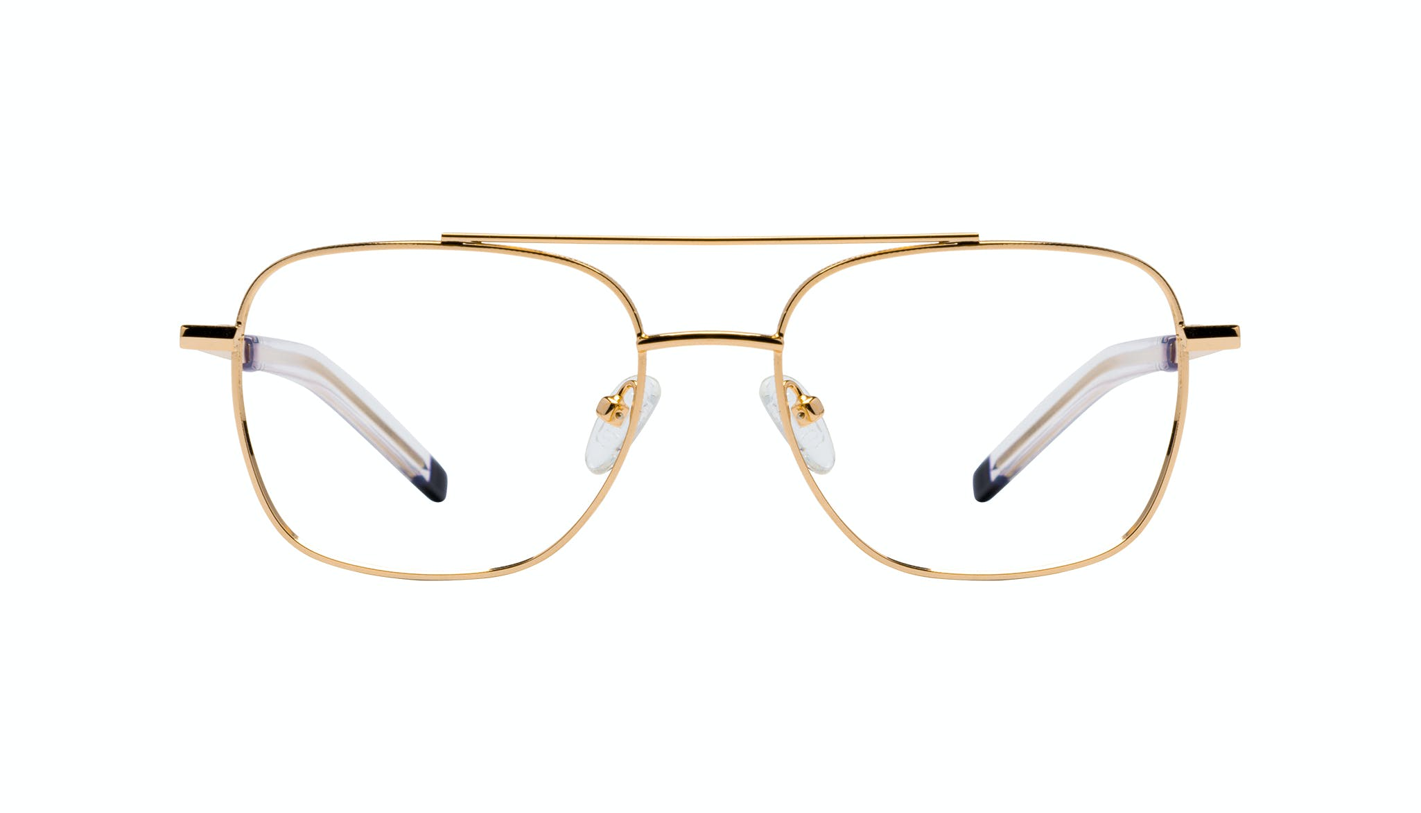 Affordable Fashion Glasses Aviator Eyeglasses Men Drift Gold Front