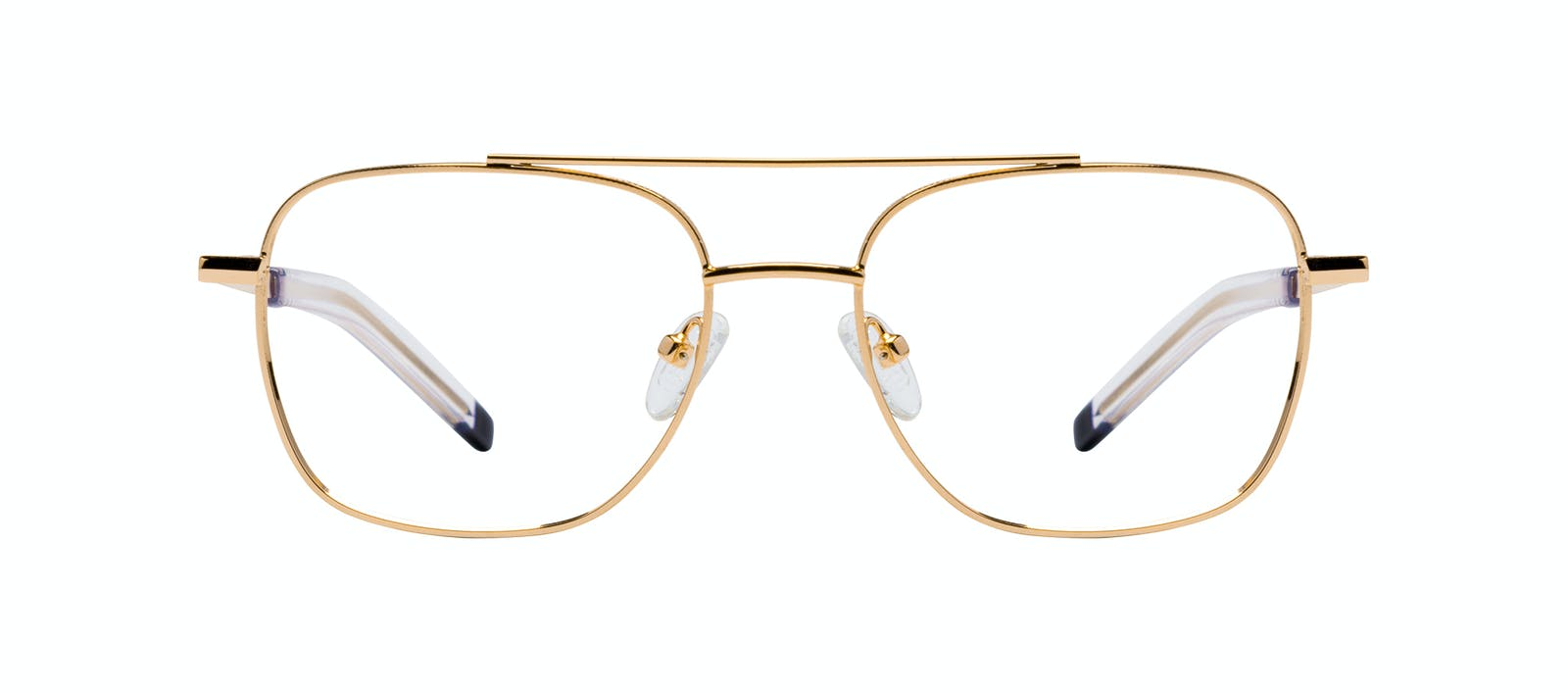 9a7f43b20d4 Affordable Fashion Glasses Aviator Eyeglasses Men Drift Gold Front