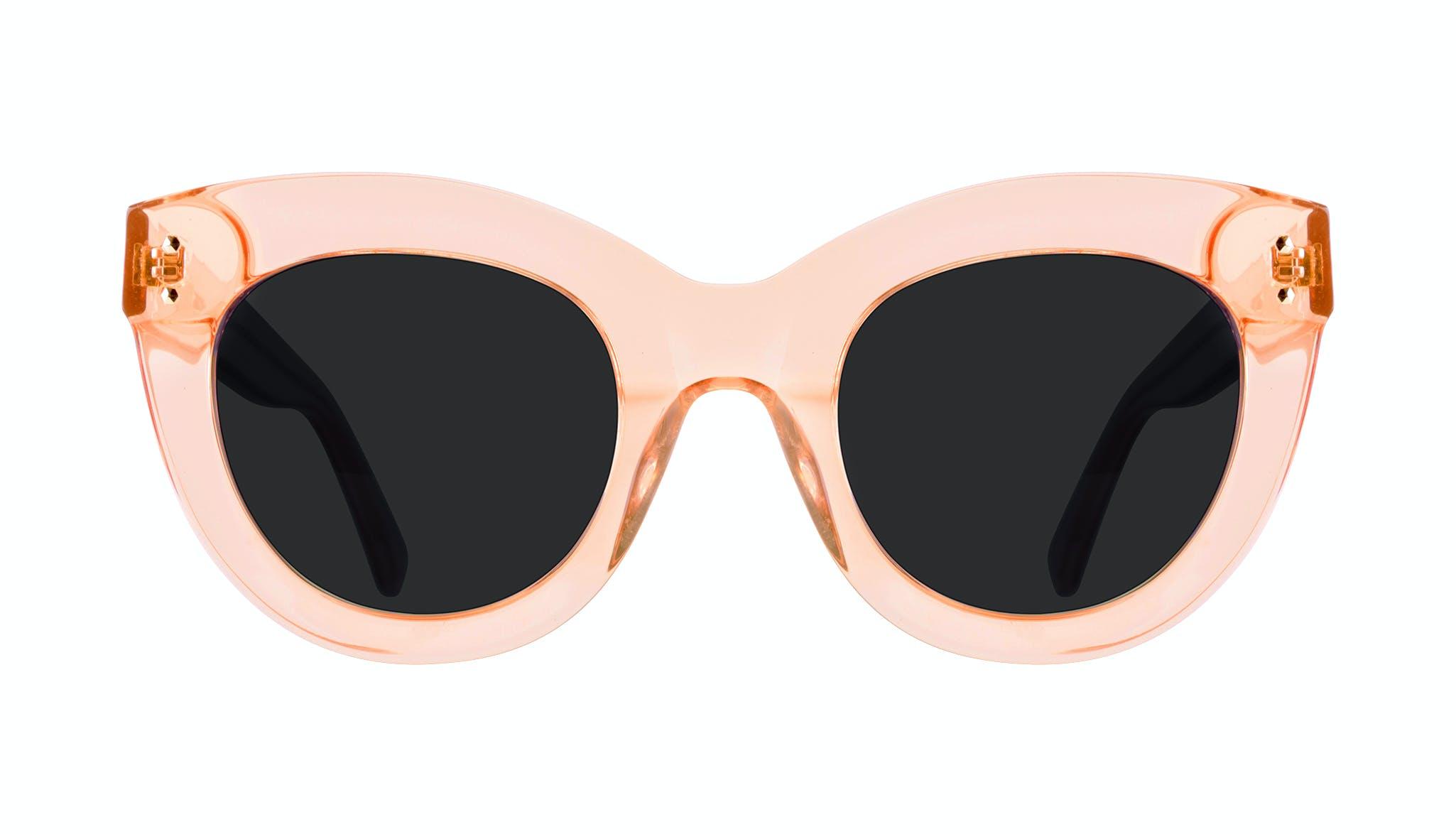 Lunettes tendance Oeil de chat Lunettes de soleil Femmes Dusk Peach Face