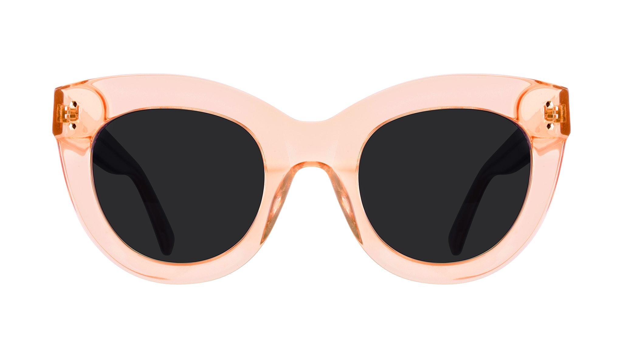 Affordable Fashion Glasses Cat Eye Sunglasses Women Dusk Peach Front