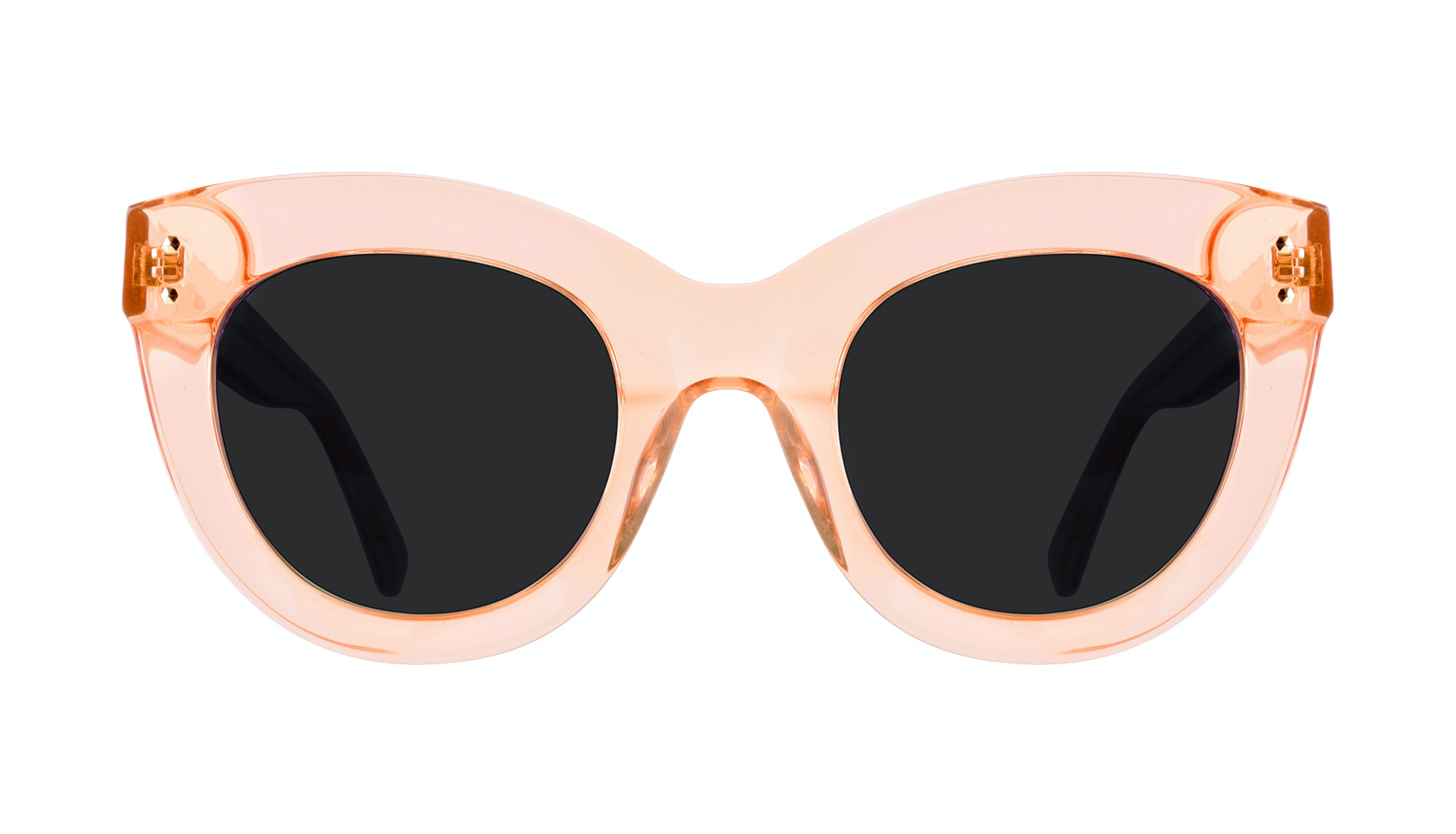 Affordable Fashion Glasses Cat Eye Sunglasses Women Dusk Peach Front