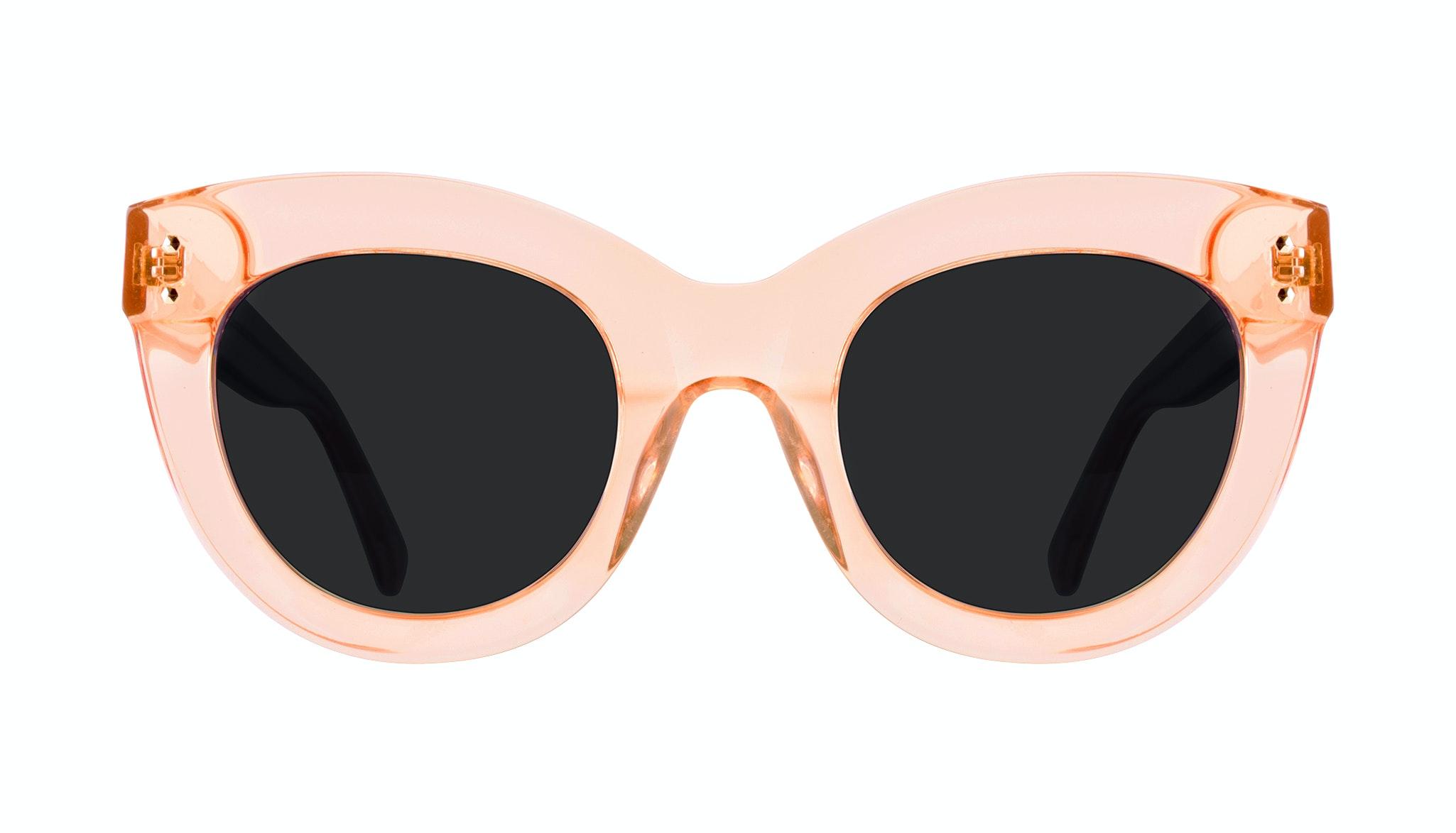 Lunettes tendance Oeil de chat Lunettes solaires Femmes Dusk Peach Face