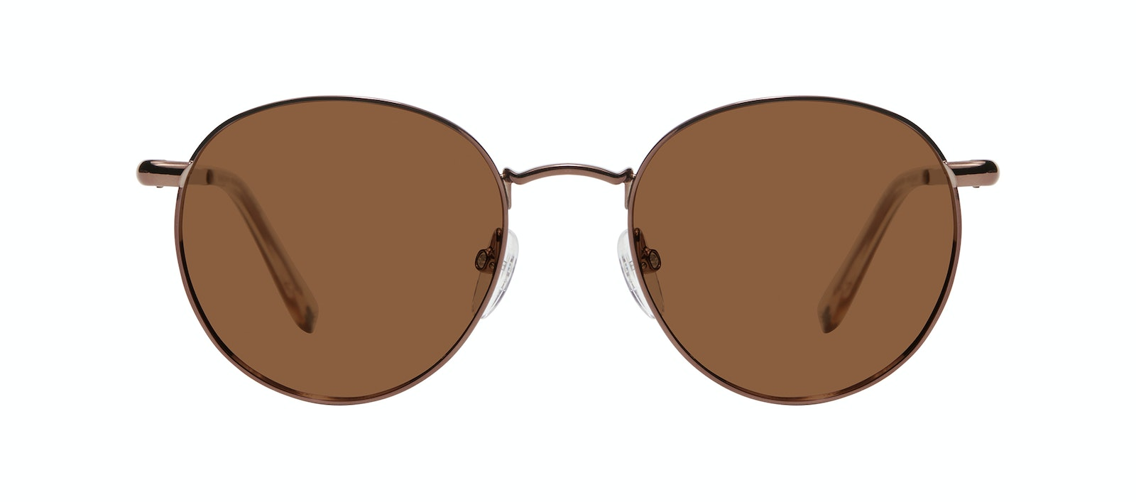 Affordable Fashion Glasses Round Sunglasses Women Dynasty M Copper Front