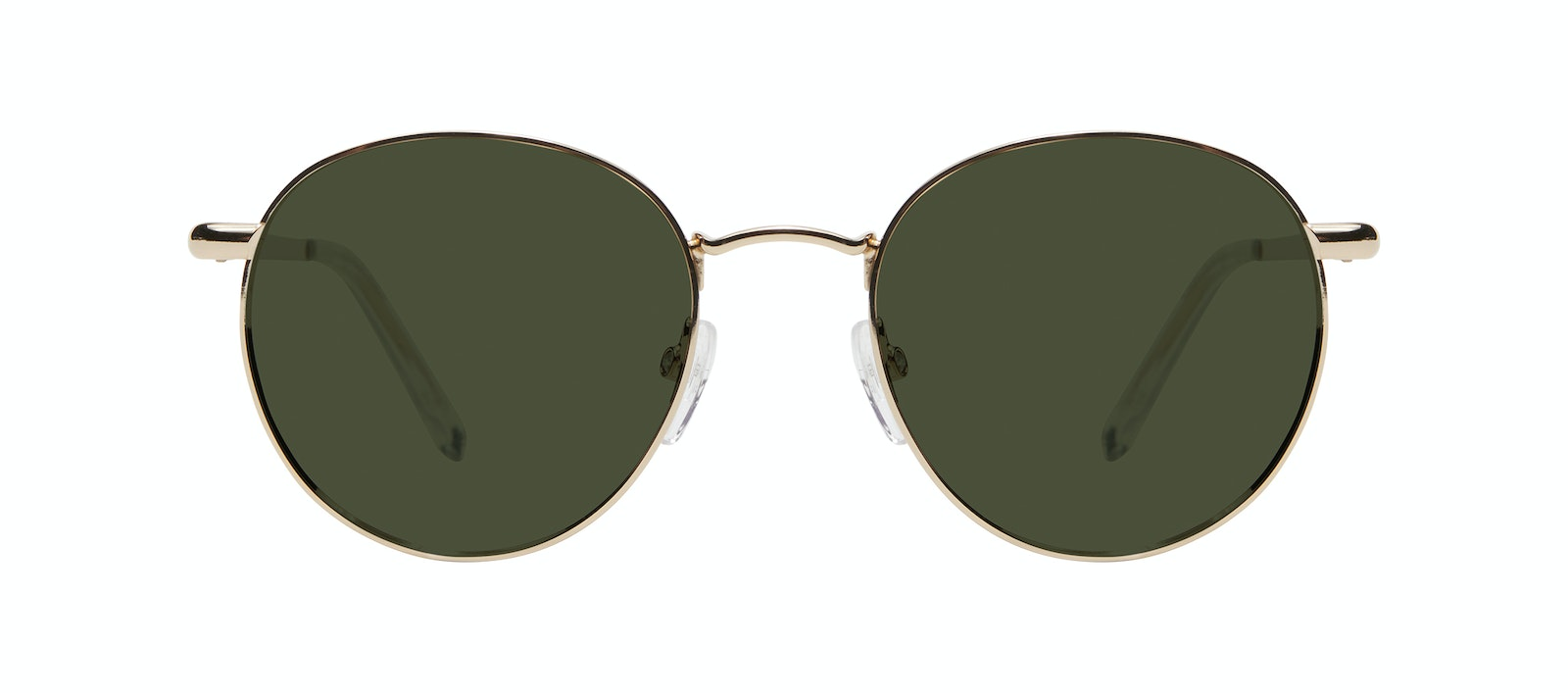 Affordable Fashion Glasses Round Sunglasses Women Dynasty M Gold Front