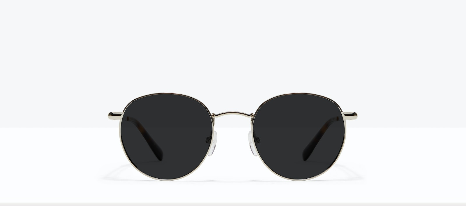 Affordable Fashion Glasses Round Sunglasses Men Women Dynasty M Silver Front
