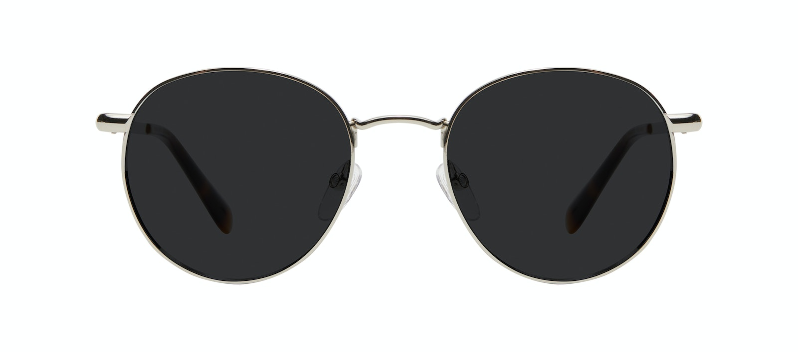 Affordable Fashion Glasses Round Sunglasses Women Dynasty M Silver Front