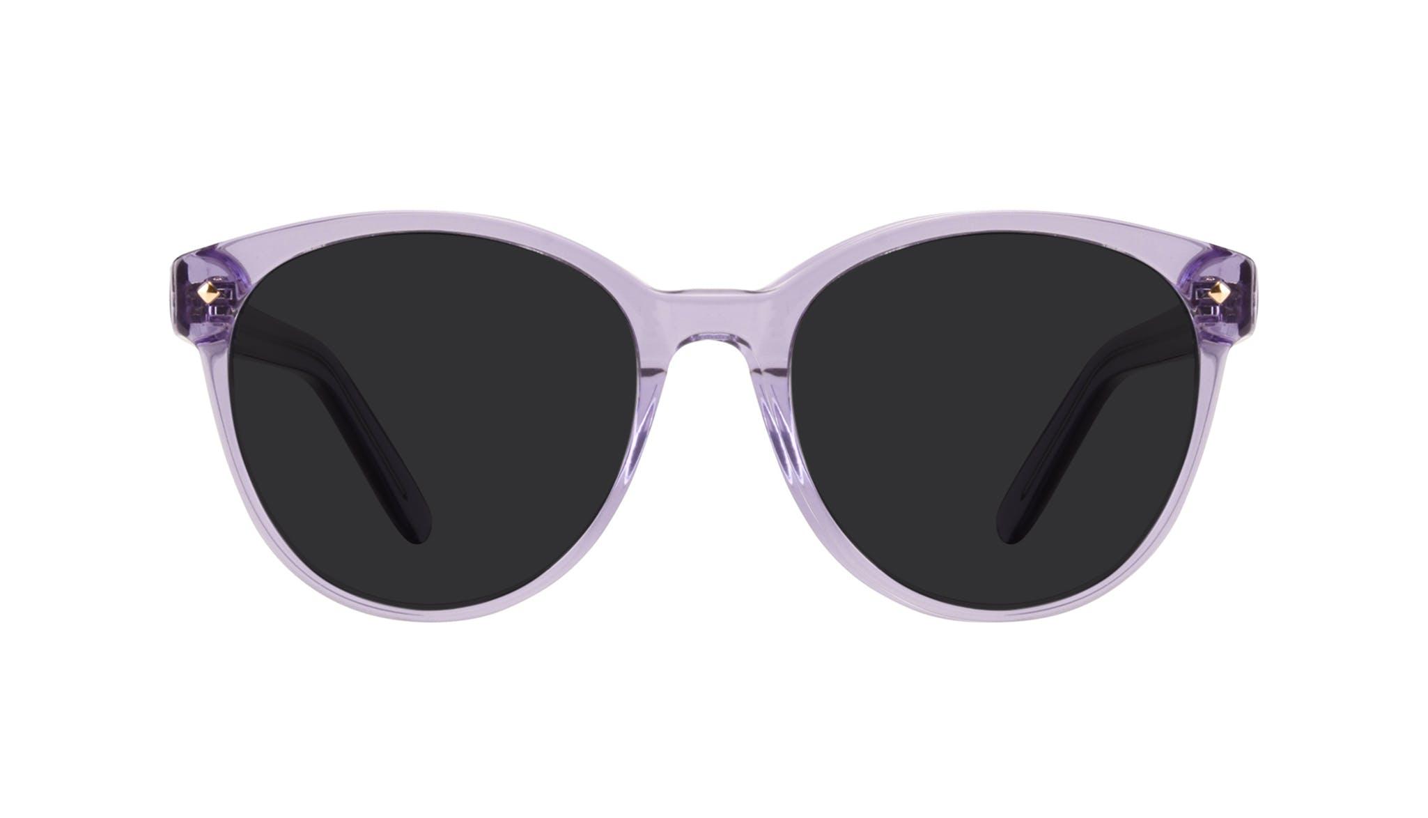 Lunettes tendance Ronde Lunettes de soleil Femmes Eclipse Lavender Face